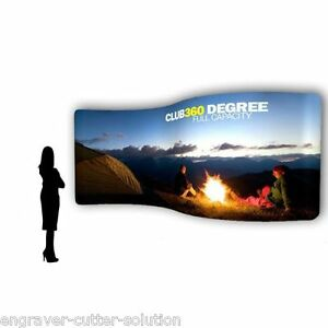 20ft Pop up Serpentine Portable Fabric Tension Display Exhibit Trade Show