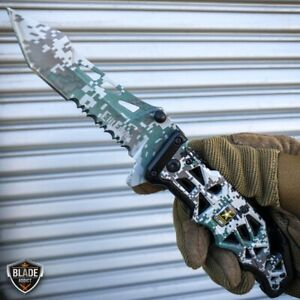 9quot; Military ARMY Tactical Spring Open Assisted Folding Rescue Pocket Knife Blade $12.30