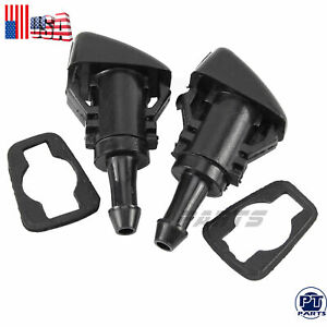 2x Windshield Washer Fluid Spray Nozzle For 2008 2013 Chrysler Town Country