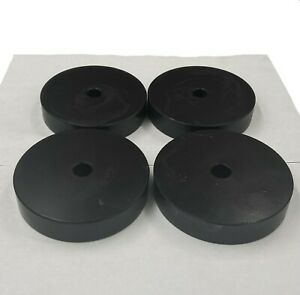 Used Set Of Four 4 Heavy Duty Steel Industrial Machine rigging Leveling Pads