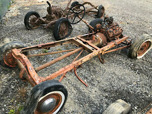 Model A Ford Hot Rod Chassis W Flathead V8 F1 Steering 59ab 39 Transmission