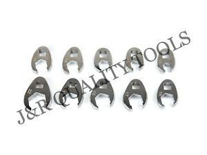 Vct 10pc Metric 3 8 Drive Flare Nut Crowfoot Wrench Set 10 22mm