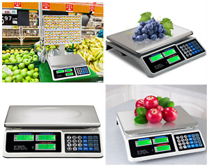 Digital Scale Price Produce Deli Food Bulk Electronic Weight 66 Lb Commercial