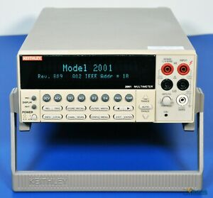 Keithley 2001 7 5 Digit Low Noise Multimeter 7 1 2 Digit Dmm Nist Calibrated