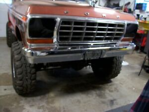 Chrome Front Bumper 78 79 Ford Pickup And Bronco