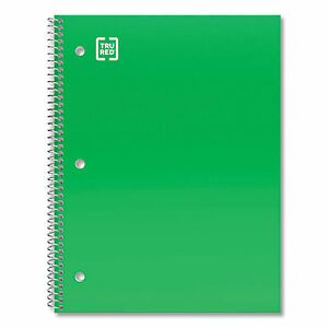 One subject Notebook Wide legal Rule Green Cover 10 5 X 8 100 Sheets 572550