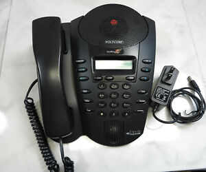 Polycom Soundpoint Pro Se 225 dual Mic Works With Home Phoneline