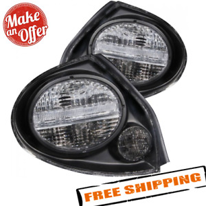 Anzo 221097 Clear Lens Black Housing Tail Lights For 2000 2003 Nissan Maxima