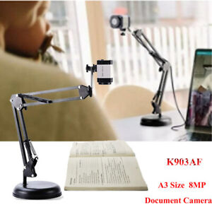 8mp Hd Document Camera Foldable A3 Size Usb Document Camera For Video Shooting
