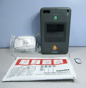 Philips Heartstart Fr3 Aed With Case Pads Data Card Pedi Key 3 year Battery