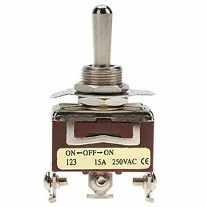 Toggle Switch3 Position On off on Momentary Toggle Switch Spdt 3 pin 12mm 15a