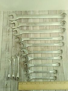 Vintage S K Lectrolite Open Closed End Combination Wrench 13 Wrench Set Sae