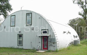 Durospan Steel 30x100x14 Metal Quonset Building Diy At Home Kit Open Ends Direct