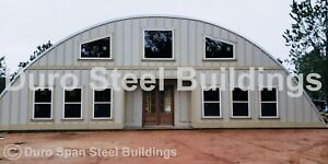 Durospan Steel 55 x56 x19 Metal Diy Quonset Home Building Kits Open Ends Direct