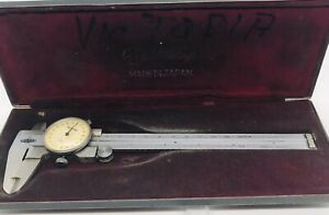 Mitutoyo 6 Dial Caliper 505 255 vd6 With Hard Factory Case