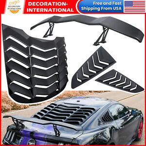 Wing Spoiler Rear Side Window Louver Sun Shade Cover For Ford Mustang 2015 2021
