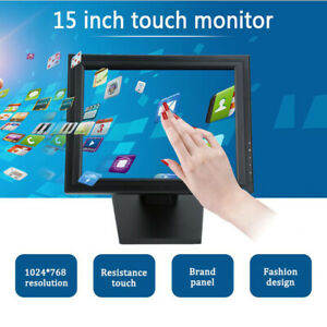 15 Lcd Touch Screen Led Monitor With Pos Stand Usb Restaurant Bar Us Stock