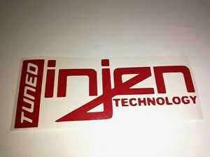 Injen Technology Tuned Sticker Vinyl Decal For Car And Others Finish Glossy