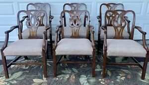 6 Vintage Baker Arm Chairs