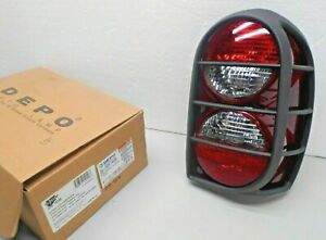 Depo Tail Light Passenger Side Rh W Guard For 2005 2006 Jeep Liberty Renegade