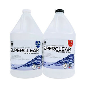 2 Gal Superclear Table Top Epoxy Resin River Live edge Tables Jewelry Art