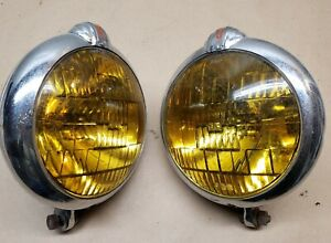Vintage Original Gm Unity Accessory Fog Lights Lamps Chevy Buick Olds S 6