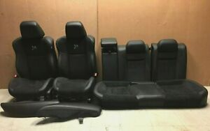 2015 2020 Dodge Charger Scat Pack Front Rear Seats Black Suede Leather Oe
