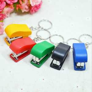 Portable Keychain Mini Cute Stapler For Home Office School Paper Bookbindingyjh2