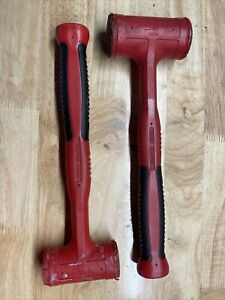 Snap On 24 Oz 32 Oz Dead Blow Hammer Red Soft Grip Lots Of Life Left