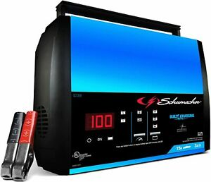 Schumacher Fully Automatic Battery Charger Maintainer 15 Amp 3 Amp 6v 12v