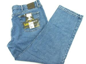 Lee Men#x27;s 40X29 Relaxed Fit Straight Leg Denim Jeans Pepper Stone Blue NWT $32.95