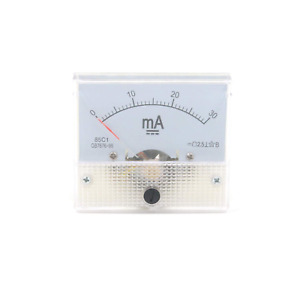 Mcredy Dc 0 30ma Rectangle Analog Panel Ammeter For Auto Circuit Or Other Voltag
