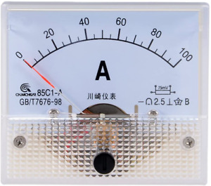 Uxcell Analog Current Panel Meter Dc 0 100a 85c1 Ammeter For Circuit Testing Cha