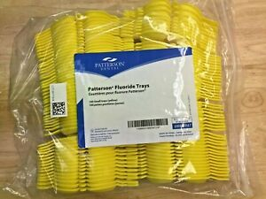Patterson Dental 088 5947 Fluoride Trays 100 Small Trays Double Yellow