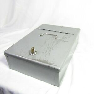 Vintage Protecto Insulated Security Box With Key 13 X 9 X 4 Very Heavy Duty