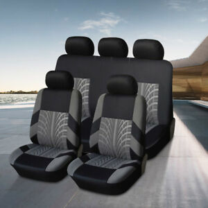 Polyester Auto Car Seat Cover Protectors Front Rear Universal 5 Sits Accessories