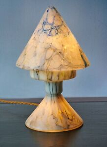 Antique Marbled Glass Table Lamp