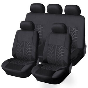 Full Set Polyester Car Seat Cover Protector Cushion Universal 5 sits Suv Covers