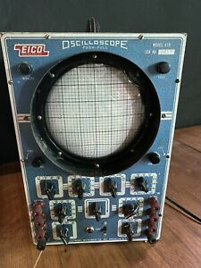 Vintage Eico Oscilloscope Model 470 Push pull Wide Band Powers On