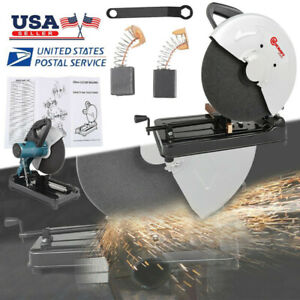 14 Inch Portable Cut Off Chop Saw 355mm Blade For Abrasives Metal Home Use Us