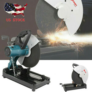 14 Inch Portable Cut Off Chop Saw 355mm Blade For Abrasives Metal Home Use Usa