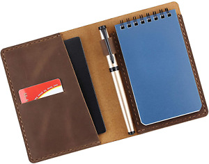 Leather Cover Compatible For Rite In The Rain Top Spiral Notebook Handmade 3x5
