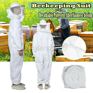 L Professional Beekeeping Full Body Bee Keeping Suit Veil Equipment Protection