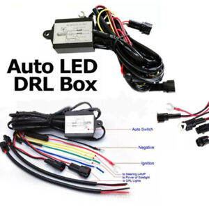 Led Daytime Running Light Automatic On Off Controller Module Box Relay Univeutru