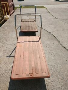 2 30 Wide X 60 Long X 12 Height Platform Cart Hand Truck Dolly Used