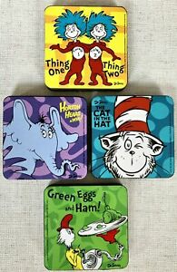 4 Dr Seuss Magnetic Dry Board white Board Erasers Teacher Supplies Home School