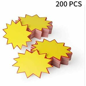 200pcs Blank Star Retail Sale Signs Sales Price Label Tags For Real Estate store