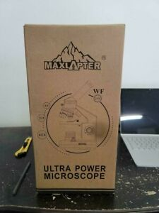 Maxlapter Science Education 200x 2000x Magnification Ultra Power Microscope