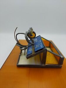 Vintage Lead Stained Glass Architect Engineer Real Estate Business Card Holder