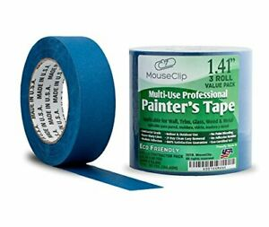 3 Pack Painters Tape Professional Blue Tape For Multi Surfaces Eco Friendly 2